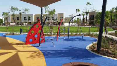 Residential Community Majid Al Futtaim Cracknell eibe Germany metal play equipment teens trampoline