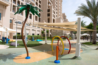 Hospitality Resort Fairmont The Palm Vortex aquatic play structures water play splashpad axendo