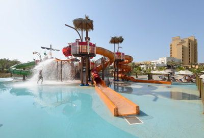 Hospitality Resort DoubleTree by Hilton Marjan Island Ras Al Khaimah Vortex Aquatic Play Pirate ship Structure Slides