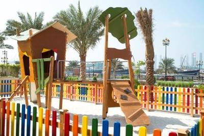 Public Retail space SHUROOQ Souq Shanasiya Sharjah UAE axendo eibe Germany wood pirate play Robinson Island