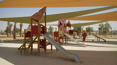 Abu Dhabi Municipality Al Khatim Park Abu Dhabi UAE eibe play jungle gym wooden