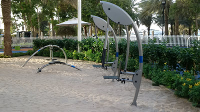 Hospitality Resort Norwell Denmark Outdoor Fitness Stations design form function fluid elegant low maintenance Dubai