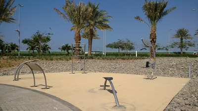 Semi Public Community Park Norwell Outdoor Fitness Stations design form function fluid elegant low maintenance Saudi Arabia KAEC Emaar