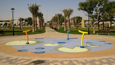 Municipal Public park axendo ADM PRFD Vortex Aquatic Play Structures water play games cannons guns fountain spray ground.