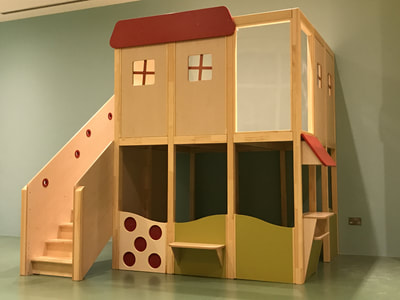 Hospitality eibe Germany kids furniture wood play house Loft2Play creche